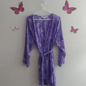 Victoria secret purple leopard Robe